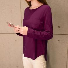 Spek Looesn Versatile Outerwear Women S Top Korean Style Long Sleeved T Shirt 126 Ungu Saku Oem