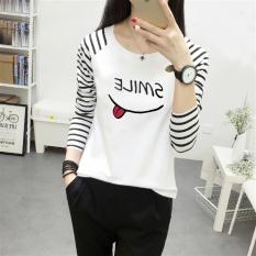 Looesn Versatile Plus Sized Long Sleeved T Shirt Women S Top 100 Putih Diskon Tiongkok