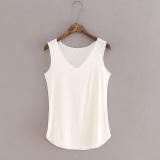 Harga Longgar Modal Perempuan V Neck Tanpa Lengan Bottoming Kemeja Harness Vest Putih Baju Wanita Baju Atasan Yang Bagus