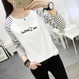 Promo Longgar Musim Gugur Baru Bergaris Siswa T Shirt 200 Surat Di Tiongkok