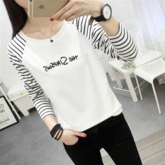 Harga Longgar Musim Gugur Baru Bergaris Siswa T Shirt 200 Surat Online Tiongkok
