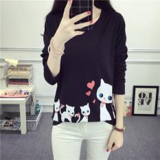 Daftar Harga Kaos Oblong Wanita Lengan Panjang Lucu Membentuk Tubuh Hitam Hitam Oem