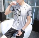 Longgar Musim Panas Lengan Pendek Leher Bulat Gaya Jepang T Shirt Kaisar Nb Abu Abu Other Diskon 40
