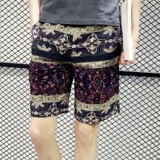 Celana Selutut Musim Panas Cepat Kering Celana Pantai Pakaian Pria Bagian Tipis (No. 8 Warna)
