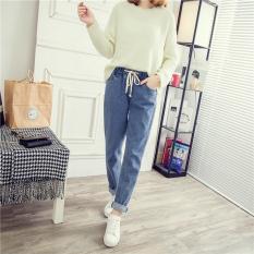 Jual Longgar Perempuan Lee Jeans Siswa Lurus Harem Celana Jeans Warna Muda 953 Branded Murah