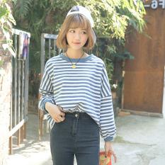 Spesifikasi Longgar Perguruan Tinggi Perempuan Bagian Tipis Bergaris Jaket Sweater 193 Biru Bergaris Bagian Tipis Baju Wanita Baju Atasan Yang Bagus Dan Murah