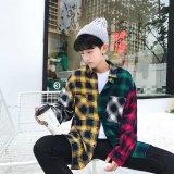 Review Longgar Pria Musim Gugur Lengan Panjang Kemeja Kotak Kotak Kemeja El C05 Mantra Warna Kemeja Baju Atasan Kaos Pria Kemeja Pria Tiongkok