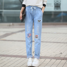 Beli Longgar Remaja Smp Siswa Sekolah Dasar Lurus Koboi Celana Panjang 6658 Light Blue Oem
