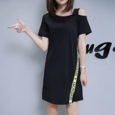 Harga Longgar Setengah Panjang Model Yard Besar Lengan Pendek Bawahan Gaun Sling Merah Baju Wanita Dress Wanita Gaun Wanita Seken