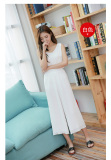 Harga Longgar Sifon Kasual Terlihat Langsing Slim Baru Celana Perempuan Kulot Putih Oem Ori