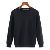 Beli Longgar Tambah Beludru Pria Ukuran Plus Kode Lebih Tebal Lengan Panjang Kaos Sweater Hitam Warna Solid Tambah Beludru Baju Atasan Sweter Pria Online