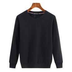 Spesifikasi Longgar Tambah Beludru Pria Ukuran Plus Kode Lebih Tebal Lengan Panjang Kaos Sweater Hitam Warna Solid Tambah Beludru Baju Atasan Sweter Pria Other Terbaru