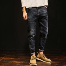Harga Longgar Tren Harem Pria Ukuran Besar Celana Kasual Jeans Hitam 1 Original