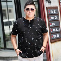 Longgar Ukuran Besar Pria Ukuran Plus Orang Gemuk Baju Dalaman Kaos (Hitam)