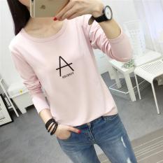 Looesn Korean Style New Style Base Shirt T Shirt 178 Merah Muda Terbaru