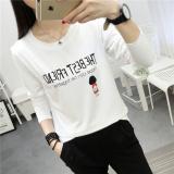 Model Looesn Korean Style New Style Base Shirt T Shirt 182 Putih Terbaru