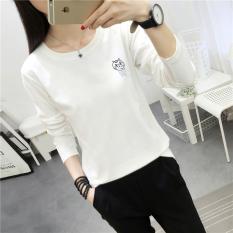 Jual Xianyuansu Kaos Wanita Lengan Panjang Motif Cetak Model Longgar Banyak Warna 191 Putih Baju Wanita Baju Atasan Kemeja Wanita Oem Grosir