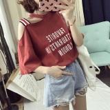 Spek Looesn Korean Style New Style Slimming Short Sleeved T Shirt 460 Merah Karat