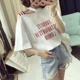 Spesifikasi Looesn Korean Style New Style Slimming Short Sleeved T Shirt 460 Putih Baju Wanita Baju Atasan Kemeja Wanita Lengkap Dengan Harga