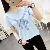 Ulasan Lengkap Tentang Looesn Korean Style Female Summer New Style Short Sleeve Top T Shirt 556 Biru Baju Wanita Baju Atasan Kemeja Wanita