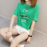 Harga Kaos Wanita Fashion Lengan Pendek Berlubang Gaya Korea 827 Hijau Merk Oem