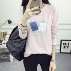 Jual T Shirt Baru Lengan Panjang Atasan Korea Fashion Style Perempuan 170 Merah Muda Baju Wanita Baju Atasan Kemeja Wanita Murah Di Tiongkok
