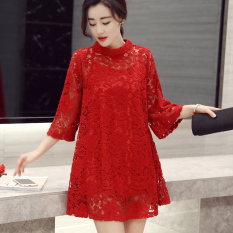 Baju Pelayanan Yard Besar Longgar Gaun Malam Wanita Hamil Mempelai Wanita (Merah) Baju Wanita Gaun Wanita Gaun Wanita