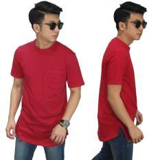Harga Longline T Shirt Basic Red Online