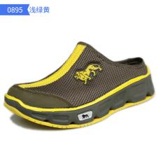 Lonsdale Luar Ruangan Ringan Non-slip Sepatu Hulu Pantai Sepatu (0895-lampu Hijau Kuning (Perempuan))