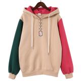Spesifikasi Looesn Korea Fashion Style Ditambah Beludru Perempuan Tebal Hoodie Pullover Berkerudung Sweater Khaki 9085 Baju Wanita Baju Atasan Paling Bagus
