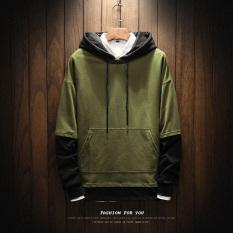 Beli Hoodie Longgar Pria Gaya Korea W17109 Hijau Tentara W17109 Hijau Tentara Oem Online