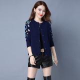 Beli Looesn Korea Fashion Style Perempuan Lengan Panjang Selendang Sweater Wanita Jas Baru Sweater Biru Tua Cicil