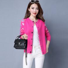 Cuci Gudang Looesn Korea Fashion Style Perempuan Lengan Panjang Selendang Sweater Wanita Jas Baru Sweater Mawar Merah
