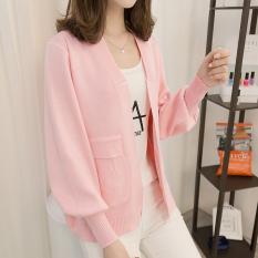 Toko Looesn Korea Fashion Style Siswa Perempuan Di Musim Semi Dan Musim Gugur Saku Sweater Sweater Merah Muda Online