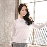 Harga Longgar Korea Fashion Style Warna Solid Musim Semi Perempuan Blus Pakaian Olah Raga Putih Lengan Panjang Cx418 Online