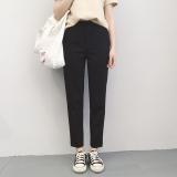 Diskon Longgar Korea Fashion Style Hitam Musim Panas Perempuan Celana Harem Celana Formal Hitam Oem Di Tiongkok