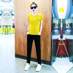 Review Jintingna Setelan Olahraga Wanita Versi Korea Kuning Kuning Di Tiongkok