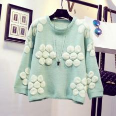 Diskon Longgar Imut Pullover Musim Gugur Dan Dingin Manis Sweater Sweater Wanita Hijau Tiongkok