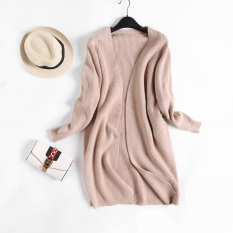 Looesn Shishang Warna Solid Perempuan Tipis Merajut Kardigan Baru Musim Gugur Sweater Khaki Tiongkok