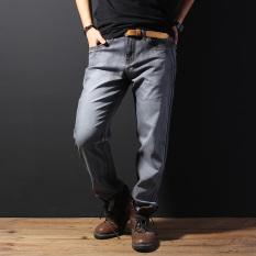 Spesifikasi Looesn Tinggi Stretch Celana Jeans Untuk Melakukan Denim Tua Abu Abu Paling Bagus
