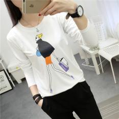 Longgar Korea Fashion Style Perempuan Siswa Sekolah Menengah Baju Musim Gugur Blus 313 Putih Diskon Tiongkok