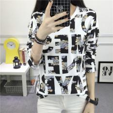 Toko Looesn Korean Style Female Spring New Style Long Sleeved Top T Shirt 933 Lengkap