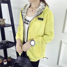 Haoxi Kardigan Wanita 2 Sisi Model Longgar Gaya Korea Banyak Warna (Jaket Kuning) Baju Wanita Jaket Wanita