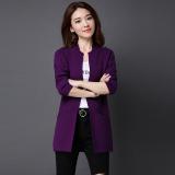 Beli Looesn Warna Solid Bagian Panjang Tipis Sweater Kardigan Ungu Baju Wanita Baju Atasan Secara Angsuran