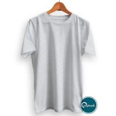 Harga Loopback Kaos Polos Pria Premium T Shirt Polos Abu Misty Cotton Combed 30S Origin