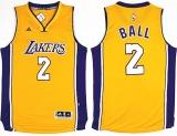 Toko Jual Los Angeles Lakers Lonzo Bola Pria No 2 2017 Nba Draft 1 Basket Jersey Top Chase Fashion Bernapas Kualitas Tinggi Amrican Lembut Ukuran Xl Gold