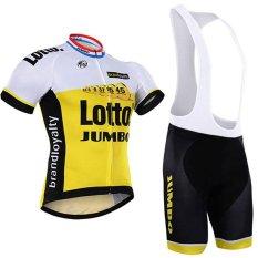 Lotto Pro Bersepeda Jersey Kuning Musim Panas PRIA MTB Sepeda Pakaian Ropa Maillot Ciclismo dengan Gel Pad X18-01-Intl