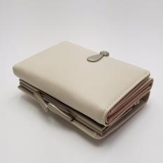 Jual Louis Clutch Dompet Compact Lipat Wanita Light Grey Branded Murah