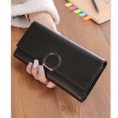 Spesifikasi Louis Dompet Fashion Wanita Ring Lipat 3 Import Hitam Bagus