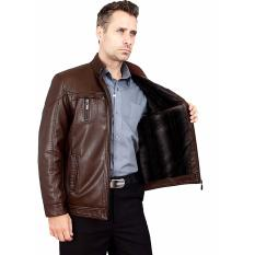 Louis Vitto - Jaket Kulit Exclusive Style VG-31 / Jaket Kulit Best Quality / Jaket Kulit Original - Brown